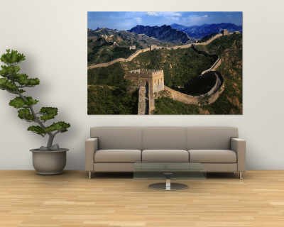 Landscape of Great Wall, Jinshanling, China Wandgemlde