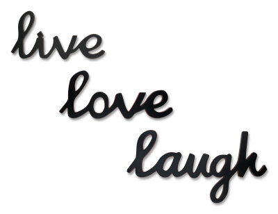 Live, Laugh and Love, kinda 3 good bits of advice, doncha think ? LIVE LOVE LAUGH IN LATIN TATTOO Love, live and That says to get ama, ride,