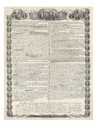 Declaration of Independence Prints by  Kurz & Allison