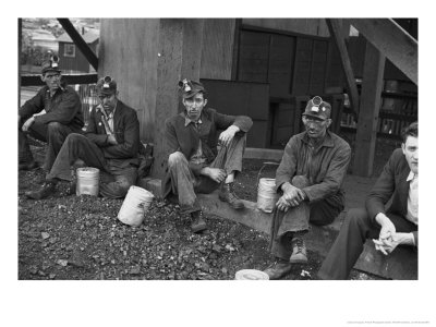 Kentucky Coal Miners, Jenkins, Kentucky, c.1935 Photographic Print by Ben Shahn