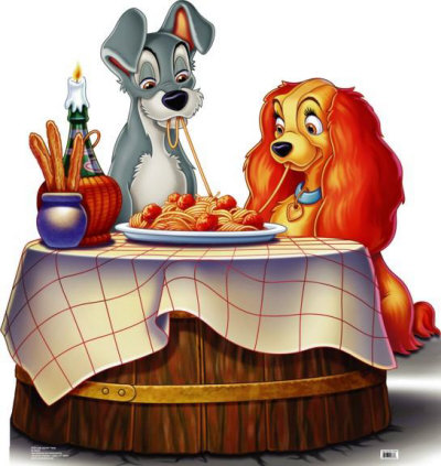 Lady and the Tramp Cardboard Cutouts