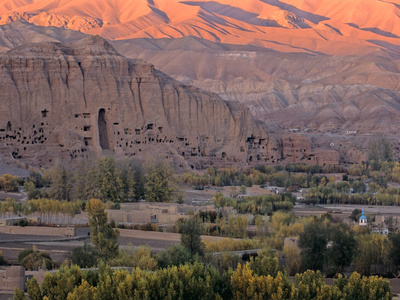 View from Bombed out Window of Defense Ministry, National Museum of Afghanistan, Kabul, Afghanistan Fotoprint av Kenneth Garrett
