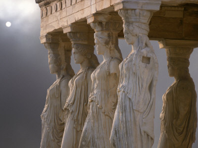 Sculptures of the Caryatid Maidens Support the Pediment of the Erecthion Temple Photographic Print