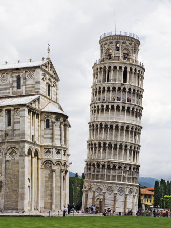Leaning Tower Next to the Duomo Pisa, Pisa, Italy Photographic Print by Dennis Flaherty