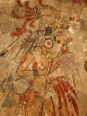 Maya Mural, San Bartolo, Guatemala Fotoprint av Kenneth Garrett