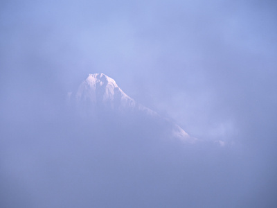 Mt. Shuksan Peaking Through the Clouds, North Cascades National Park, Washington, USA Photographic Print by Charles Sleicher