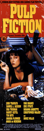 Pulp Fiction- Cover with Uma Thurman Movie Poster Posters