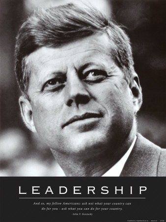 Leadership: JFK Art Print