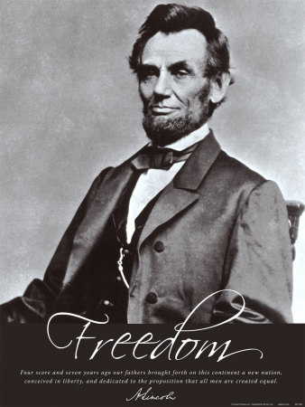 Freedom: Abraham Lincoln Art Print