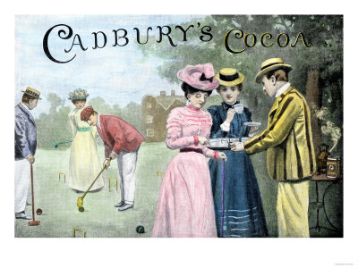 Advertisement for Cadbury's Cocoa, Showing a Croquet Game, c.1899 Premium Giclee Print