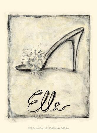 Elle: French Slipper Art by Chariklia Zarris