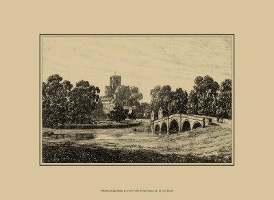 Idyllic Bridge II Prints by I.g. Wood