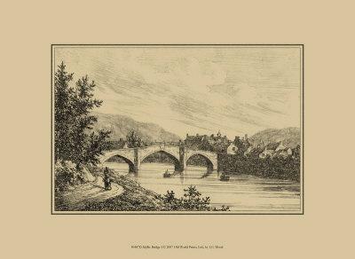 Idyllic Bridge I Poster by I.g. Wood