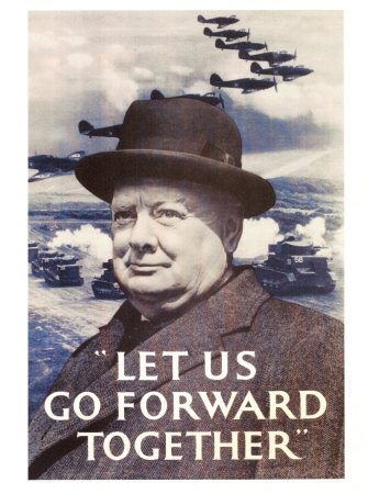 Winston Churchill Masterprint