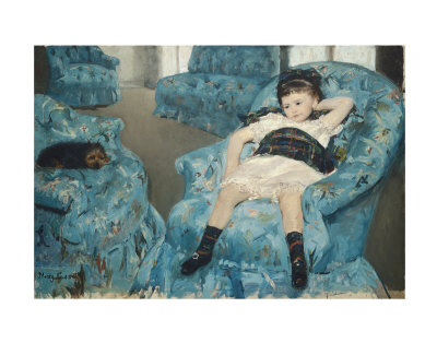 Little Girl in a Blue Armchair, c.1878 Print by Mary Cassatt