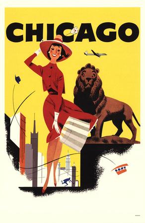Chicago- Braniff International Airways Masterprint