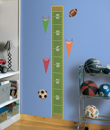 Play Ball Growth Chart Wall Decal