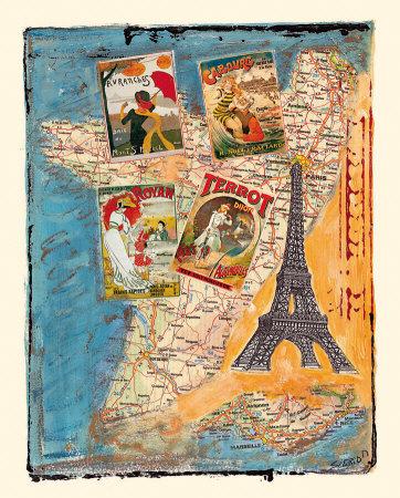 Tour de France Posters by M. Sigrid