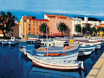 Barques de Pecheurs dans le Port d'Ajaccio Print by Jean-Claude Quilici