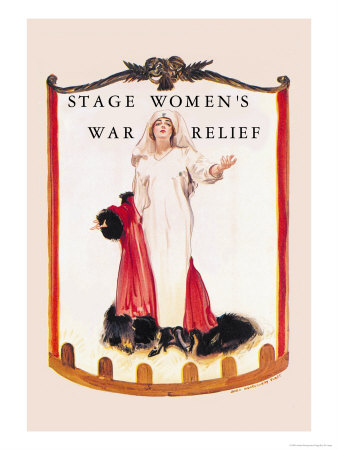 Stage Women's War Relief Prints by James Montgomery Flagg