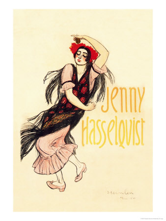Jenny Hasselquist, c.1920 Print by Théophile Alexandre Steinlen