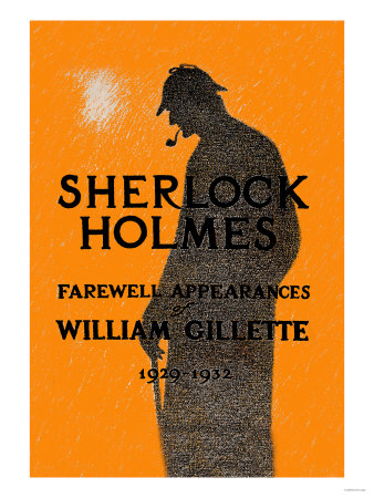 William Gillette as Sherlock Holmes: Farewell Appearance Premium Poster