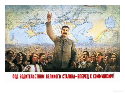 Understanding the Leadership of Stalin, Come Forward with Communism Prints by Boris Berezovskii