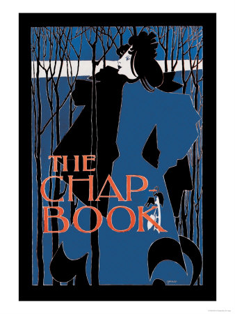 """The Chap Book: """"Blue Lady"""""""""""" Poster by Will H. Bradley"""