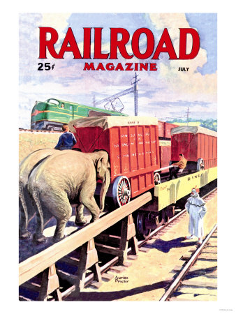 Railroad Magazine: The Circus on the Tracks, 1946 Prints