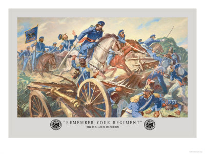 Remember Your Regiment, Mexican-American War Prints by Hal Stone