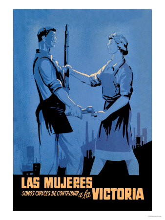 Women Can Contribute to the Victory Poster by  Babiano