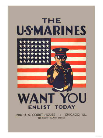 The U.S. Marines Want You Premium Poster