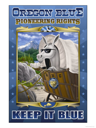 Oregon Blue, Pioneering Rights Premium Poster