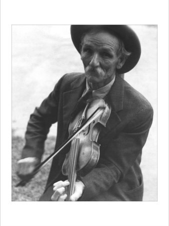 Fiddlin' Bill Henseley, Mountain Fiddler Photo by Ben Shahn