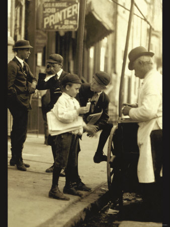 Where the Newsboy's Money Goes Photo by Lewis Wickes Hine