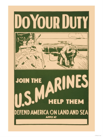 Do your Duty, Join the U.S. Marines Prints