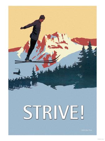Strive! Premium Poster