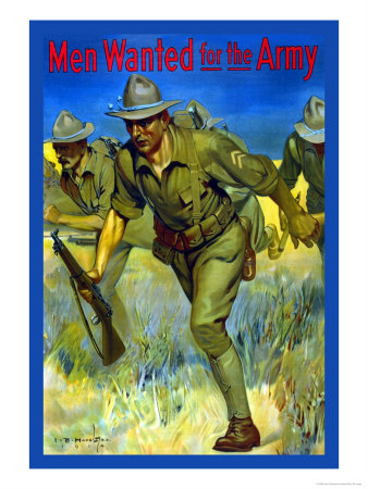 Men Wanted for the Army Posters by Isaac Brewster Hazelton