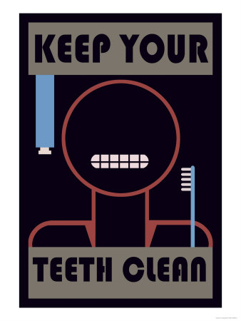 Keep Your Teeth Clean Premium Poster