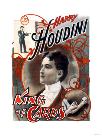 Harry Houdini: King of Cards Premium Poster