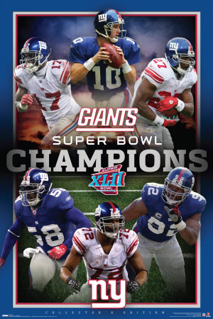 New York Giants- Super Bowl XLII Champs Poster