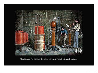 Machinery for Filling Bottles with Artificial Mineral Waters Art by John Howard Appleton