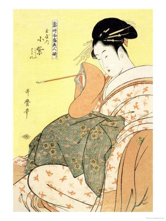 Reigning Beauties: Leisure Time Poster by Kitagawa Utamaro