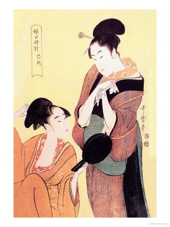 Sundial Maidens: The Hour of the Snake Prints by Kitagawa Utamaro