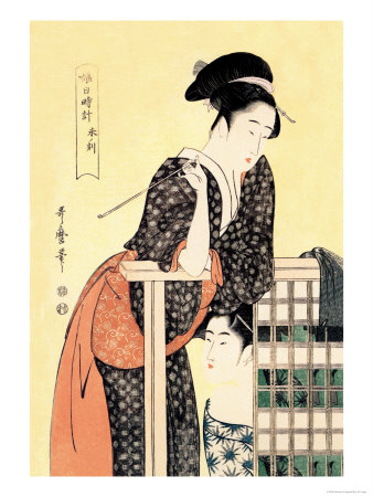 Early Afternoon: The Hour of the Ram Prints by Kitagawa Utamaro