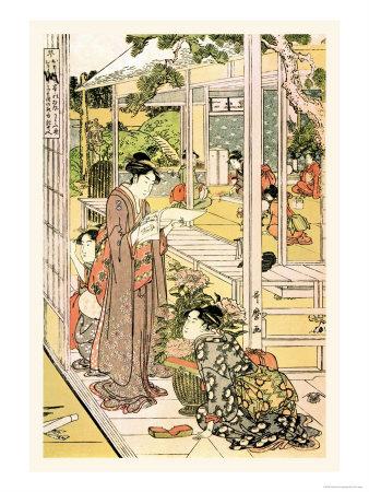 Domestic Scene Art by Kitagawa Utamaro