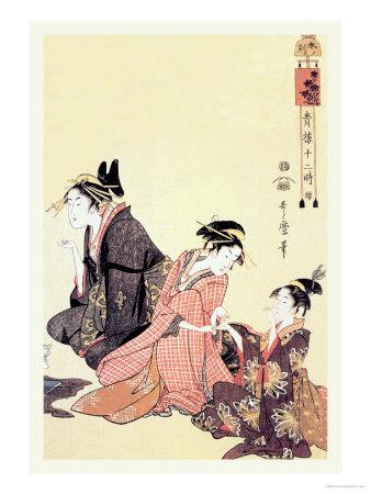 The Hour of the Ram Art by Kitagawa Utamaro