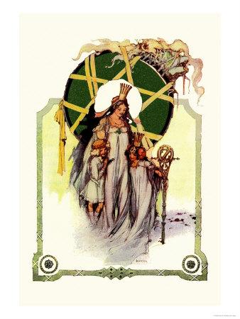 Glinda the Good Sorceress Print by John R. Neill