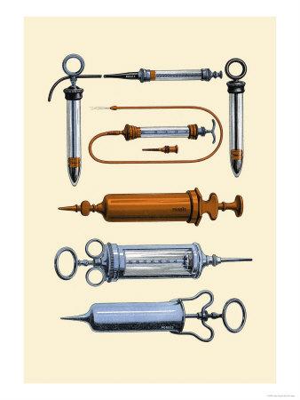 Syringes Poster by Jules Porges