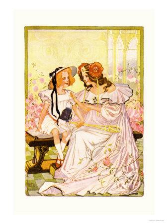 Dorothy and Ozma Art by John R. Neill